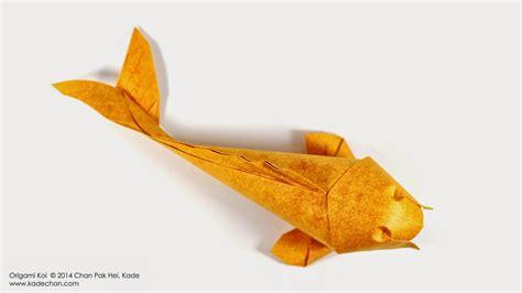 koi fish origami kade chan origami 香港摺紙工作室 日誌 origami koi fish
