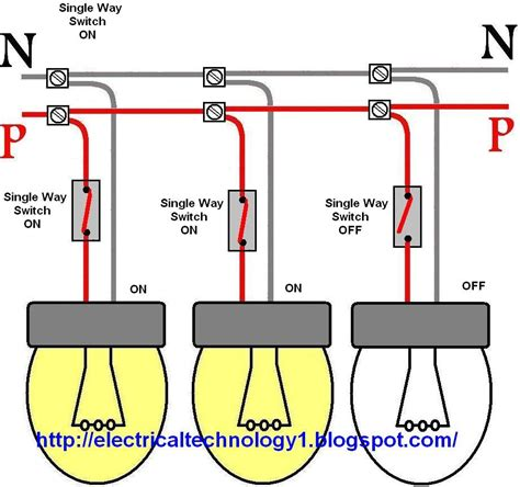 lights circuit wiring a light switch each l by separately switch