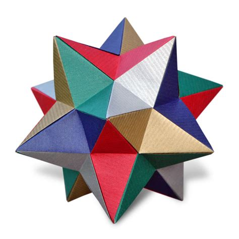 origami stellated dodecahedron home ez origami