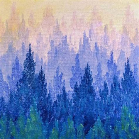 acrylic painting forest tutorial 25 b 228 sta id 233 erna om easy acrylic paintings p 229