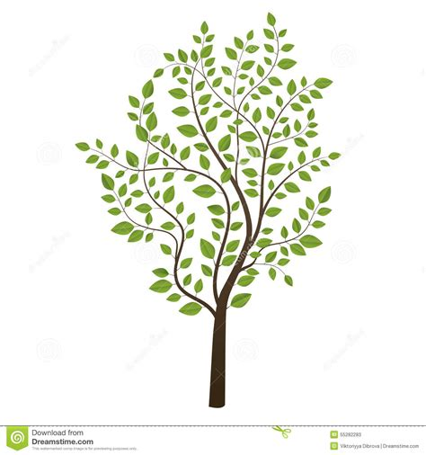 small colored trees small tree colored on background stock vector image
