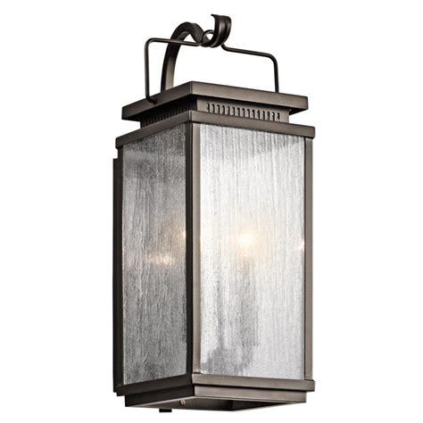 kichler exterior lighting kichler 49385oz manningham traditional olde bronze finish