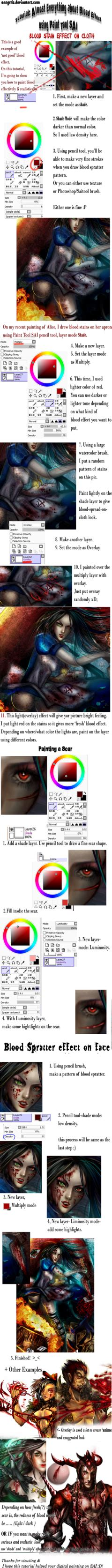 paint tool sai blood tutorial blood effect tutorial on paint tool sai by sangrde