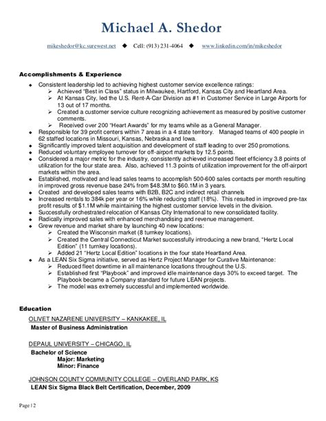continuous improvement amp operations leader resume of mike