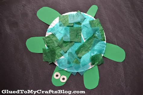 craft for with paper paper plate turtle kid craft