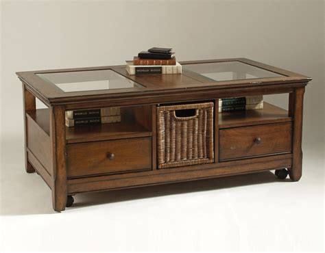 tables with storage glass top coffee table with storage