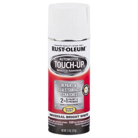 home depot paint touch up rust oleum automotive 11 oz universal bright white touch