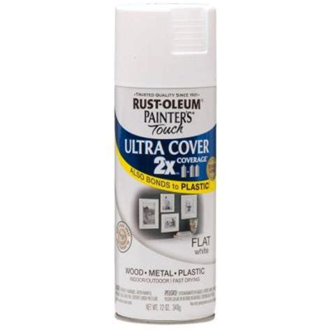 home depot spray paint white rust oleum painter s touch 2x 12 oz flat white general