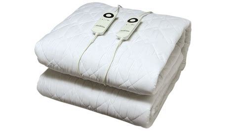 electric blanket for bed sunbeam sleep quilted electric blanket bed