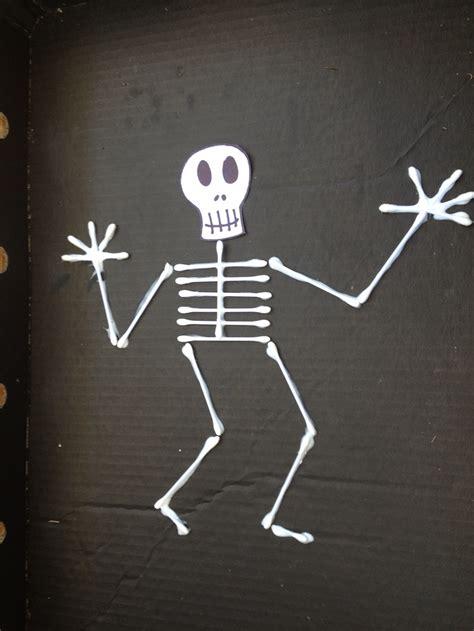 skeleton craft for cotton tip skeleton my kid craft