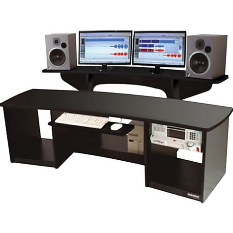 studio desk omnirax 24 studio desk black musician s friend
