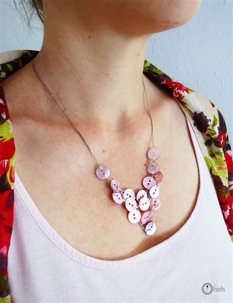 how to make jewelry with buttons how to make a button necklace ohoh
