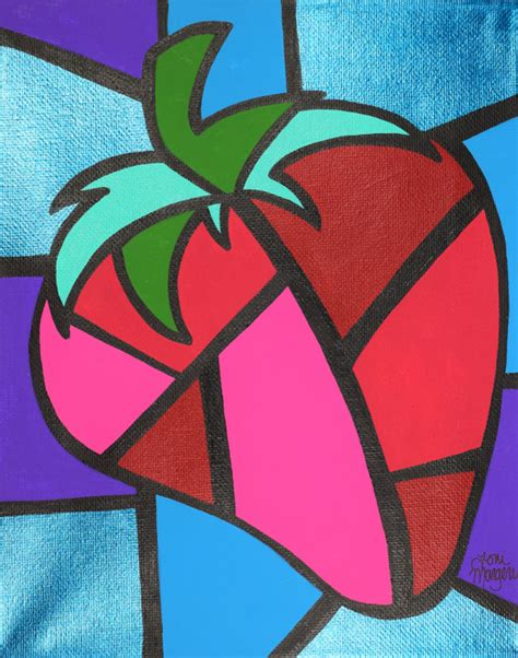 picasso paintings easy items similar to strawberry cubism aceo picasso