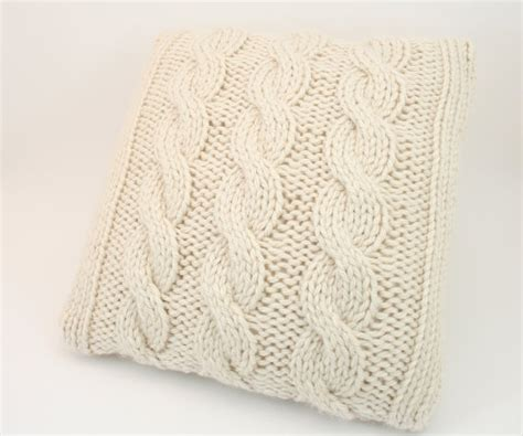 cable cushion cover knitting pattern chunky cable knit cushion cover brown hairs