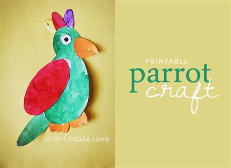 how to make parrot with craft paper printable parrot craft