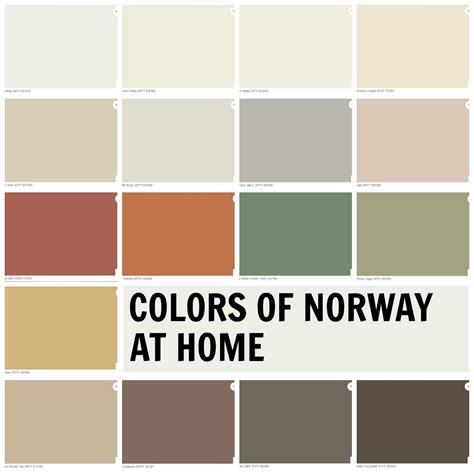 scandinavian colours colors from my colortopia