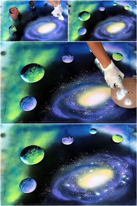 spray paint galaxy tutorial how to spray paint planets galaxy how to spray