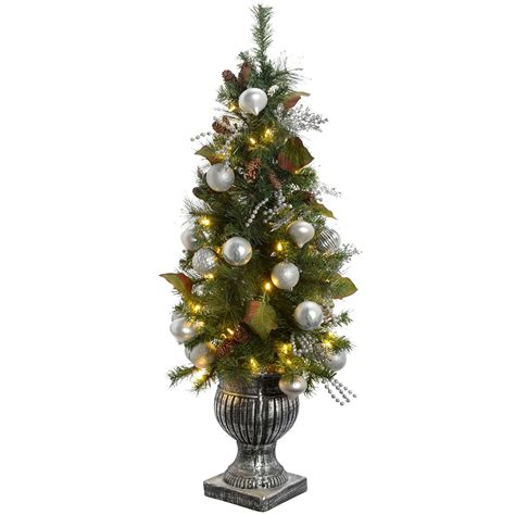 pre lit white tree uk werchristmas pre lit potted tree with 50 warm