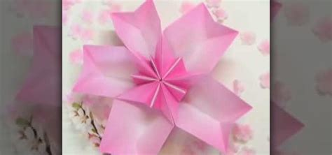 origami cherry blossom how to origami a cherry blossom dish 171 origami
