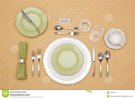 fancy place setting place setting stock images image 15994114