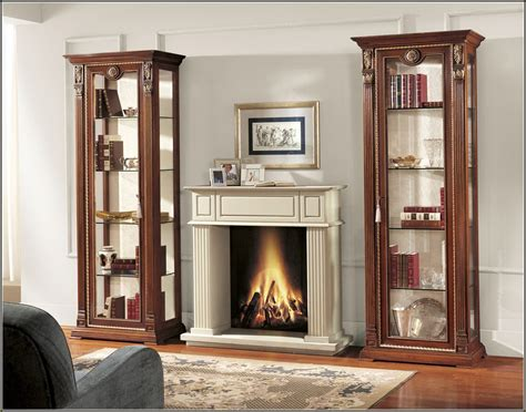 wooden cabinet with doors wooden cabinet with glass doors displaying items in