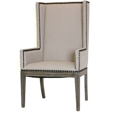 wing dining chairs wing back nailhead dining chair armchair