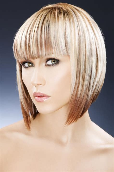 what does a bob hair cut loom like what does kelly clarksons concave bob look like in the