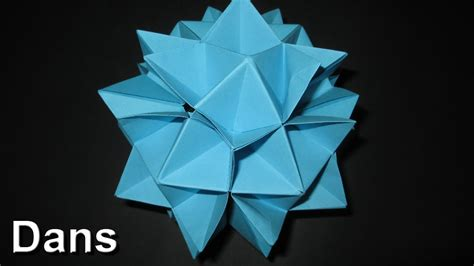 spiky origami how to make an origami spiky cuboctahedron complete