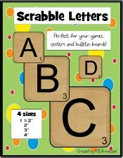 scrabble letter generator cool school ideas
