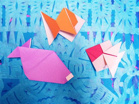origami toys that tumble fly and spin more origami fish