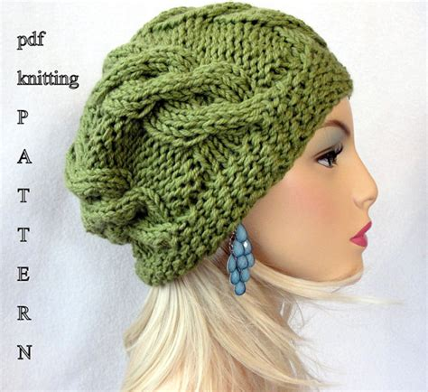cable knit slouchy hat pattern knitting hat pattern knit slouch beanie pattern knit