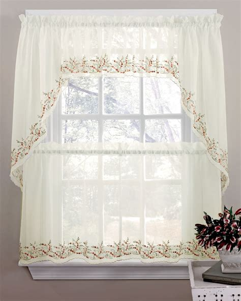 kitchen swag curtains valance sheer curtains tiers swags valance lorraine