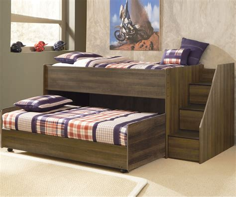 low bunk beds with stairs b251 juararo loft bed with caster bed and stairs
