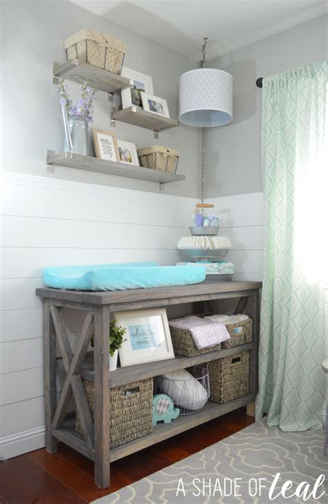 changing table storage ideas white rustic grey changing table diy projects