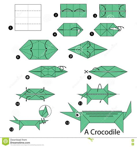crocodile origami step by step how to make origami a crocodile