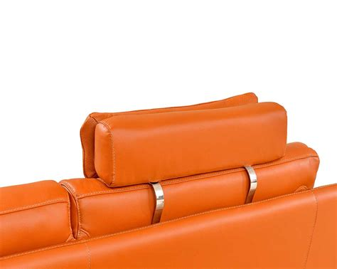 orange leather sectional sofa modern orange leather sofa 28 images 2227 contemporary