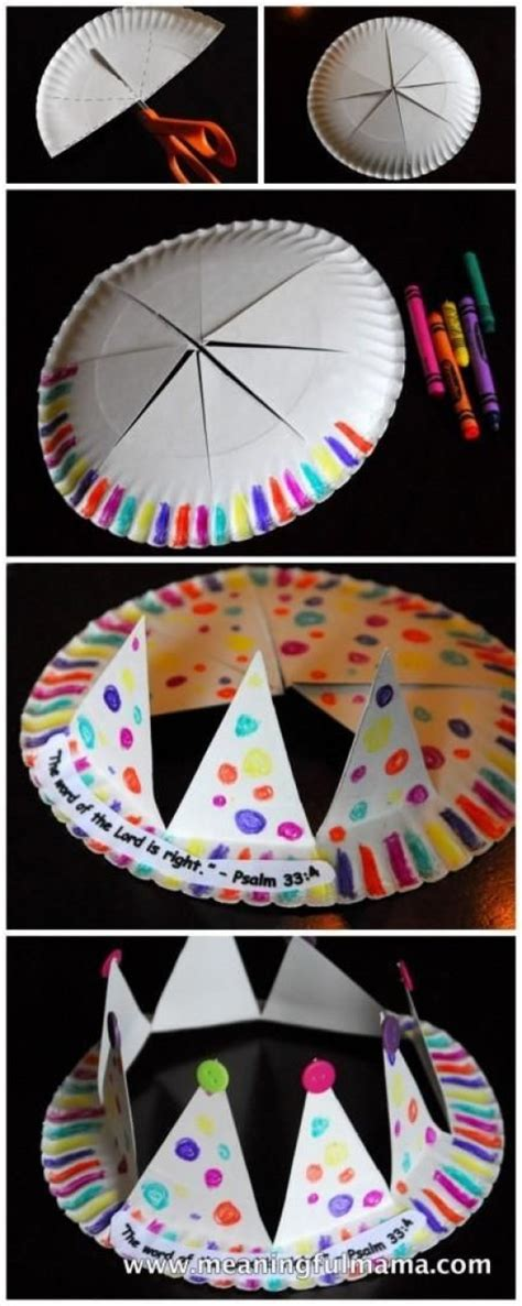 some paper crafts some easy and funky diy paper plate crafts for diy