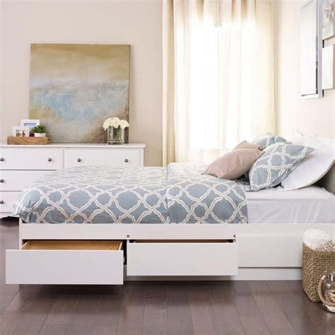 beds white white platform storage bed wbq 6200 3k