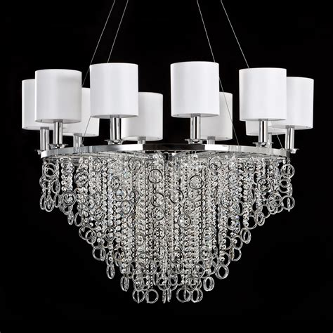 swarovski chandelier modern polished chrome swarovski chandelier