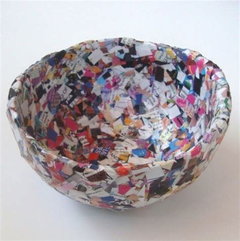 paper bowl crafts 18 creative things to do with newspapers