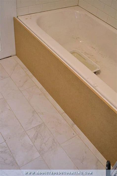 Wood Around Bathtub diy tub skirt decorative side panel for a standard apron