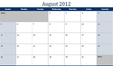 printable pdf august 2012 calendar august 2012 calendar pdf