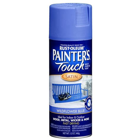 spray painter lowes shop rust oleum 12 oz wildflower blue satin spray paint at