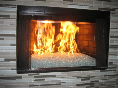 fireplace glass fireplace before after