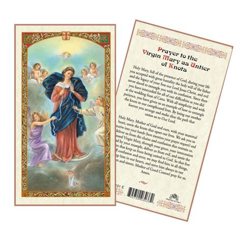 how to make a prayer card untier of knots laminated prayer card the