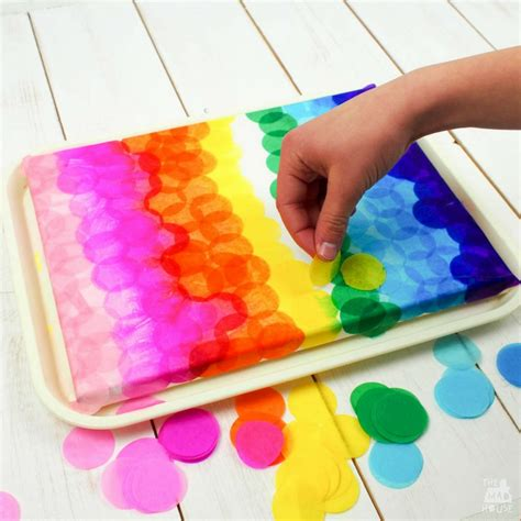 cool tissue paper crafts bleeding tissue paper canvas in the madhouse