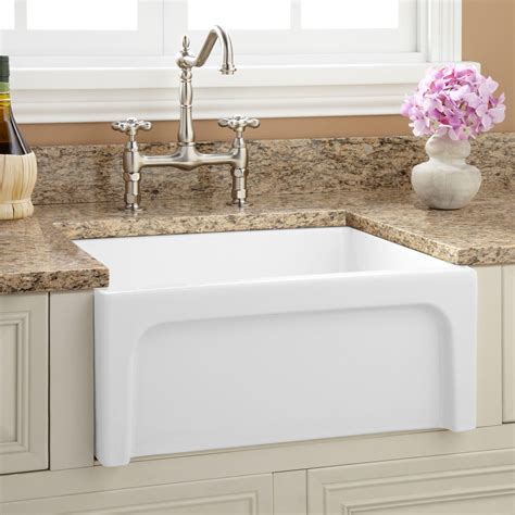 farm house kitchen sinks 24 quot risinger reversible fireclay farmhouse sink casement