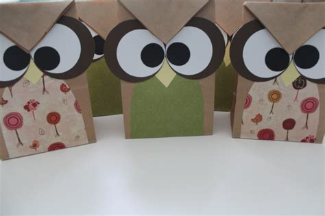 paper bag owl craft paper bag owl treat bags s nook