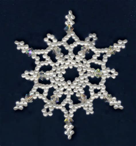 beaded snowflake patterns free bead patterns and ideas snowflakes falling ornament