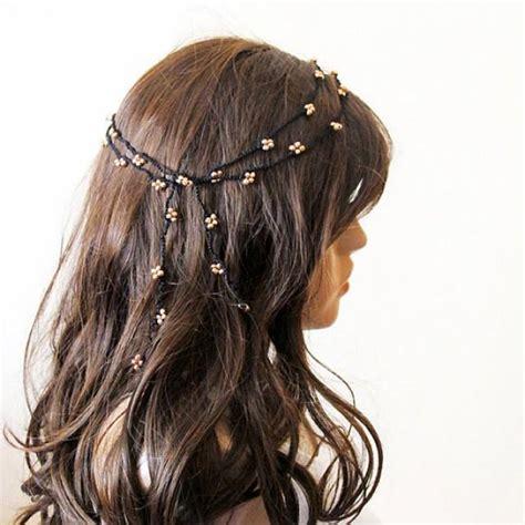 what is beaded hair crochet headband headpiece beaded headband hair band gold